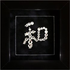 Картина с кристаллами Swarovski Иероглиф Гармония и мир