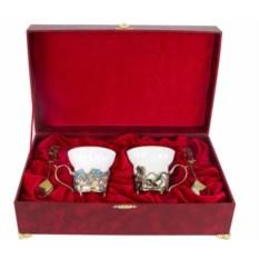 Чайная пара Ирисы и Незабудки