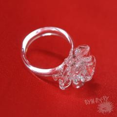 Хрустальное кольцо с розой