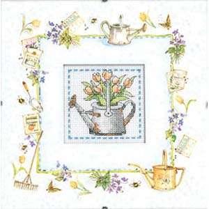 Набор для вышивания «Лейка с тюльпанами»
