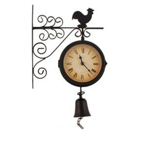 Часы кварцевые + термометр с колокольчиком