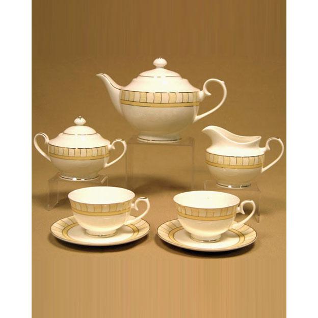 Сервиз чайный «Жёлтые дольки»