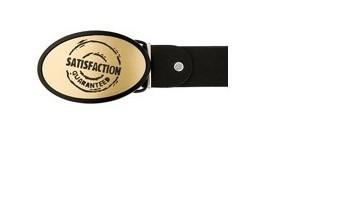Ремень кожаный с пряжкой BB1 Satisfaction Guaranted
