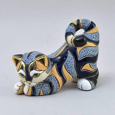 Керамическая статуэтка с позолотой Кошка