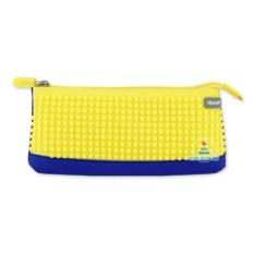 Пенал в ярких красках (синий с бананово-желтым) Upixel