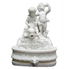 Декоративный фонтан Мифы Рима №6, белый мрамор