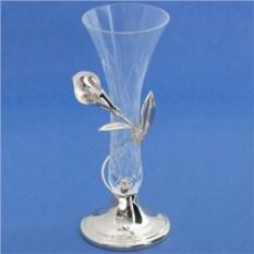Малая посеребренная ваза Калла