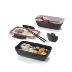 Красно-черный ланч-бокс Bento Box