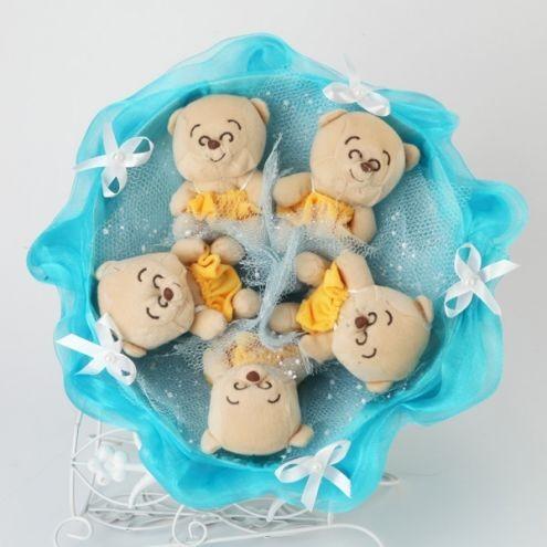 Букет из игрушек Голубая лагуна
