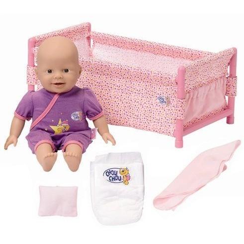 Кукла Chou-Chou 36 см с кроваткой