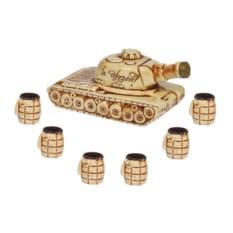 Штоф с рюмками Полный танк