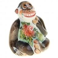 Керамическая фигурка обезьянки «Мечтательница»