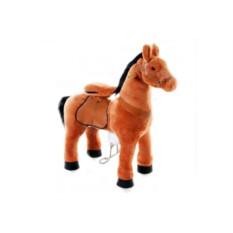 Детская средняя механическая каталка Рыжая лошадка