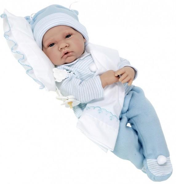 Озвученная кукла-младенец Викентий в голубом