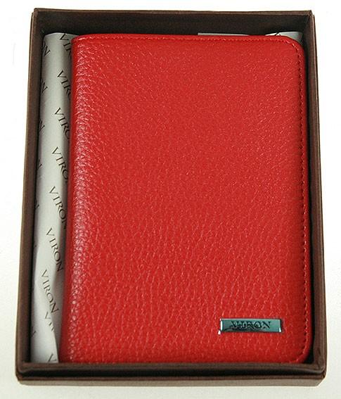 Красная обложка для паспорта и документов VIRON