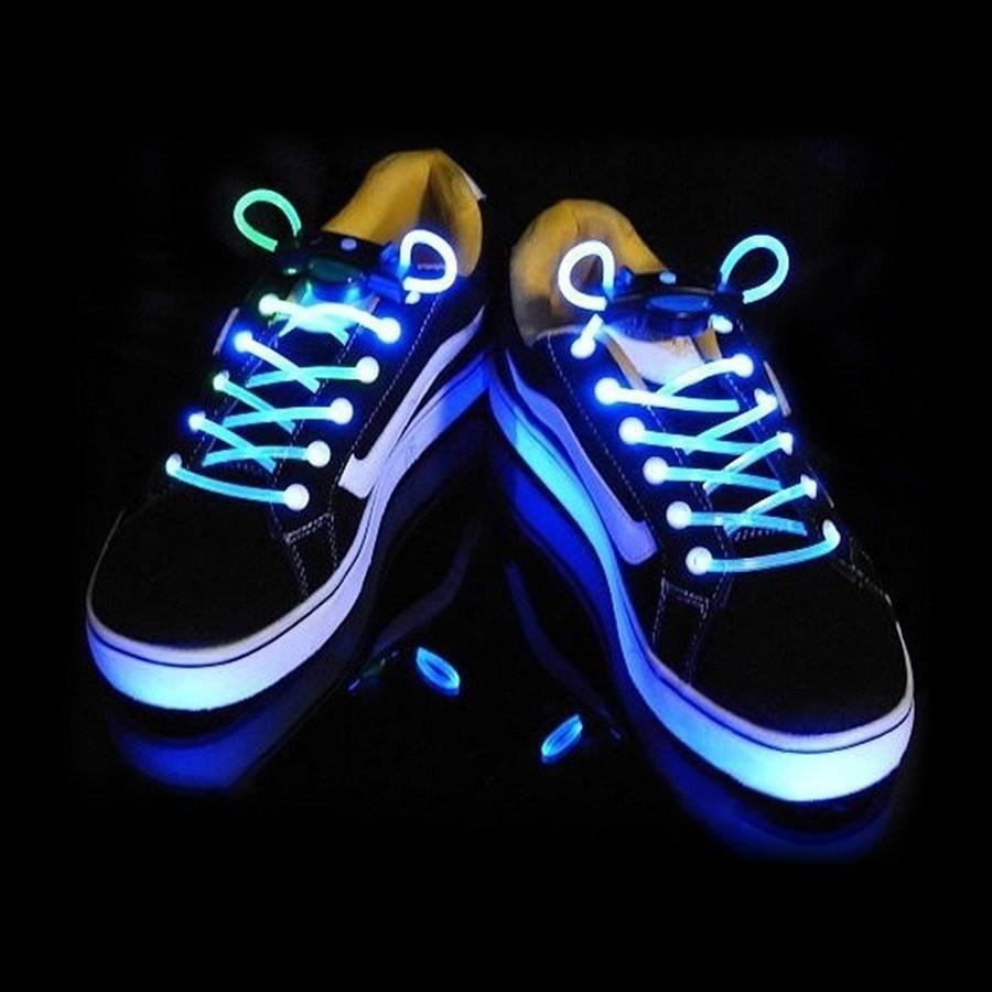 Синие светящиеся шнурки