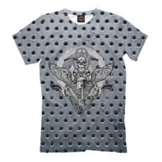 Мужская футболка Revolver And Skull