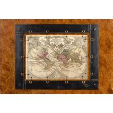 Картина из кожи Старинная карта