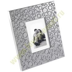 Рамка для фотографий, серебристая с кругами