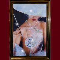 Картина Swarovski Дама