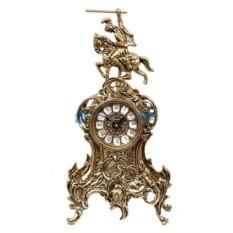 Часы из бронзы Всадник 37х19 см, золотые