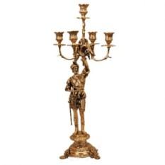 Пара канделябров из бронзы на 5 свечей Придворный