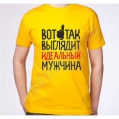 Мужская футболка Вот так выглядит идеальный мужчина