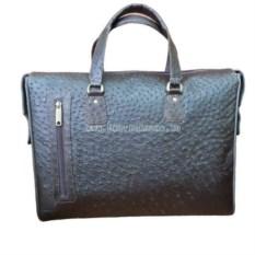 Портфель-сумка из страусиной кожи