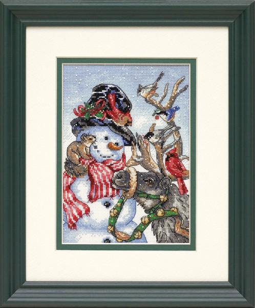 Набор для вышивания Снеговик и олень