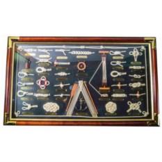 Картина-коллаж Морские узлы (73х43 см)