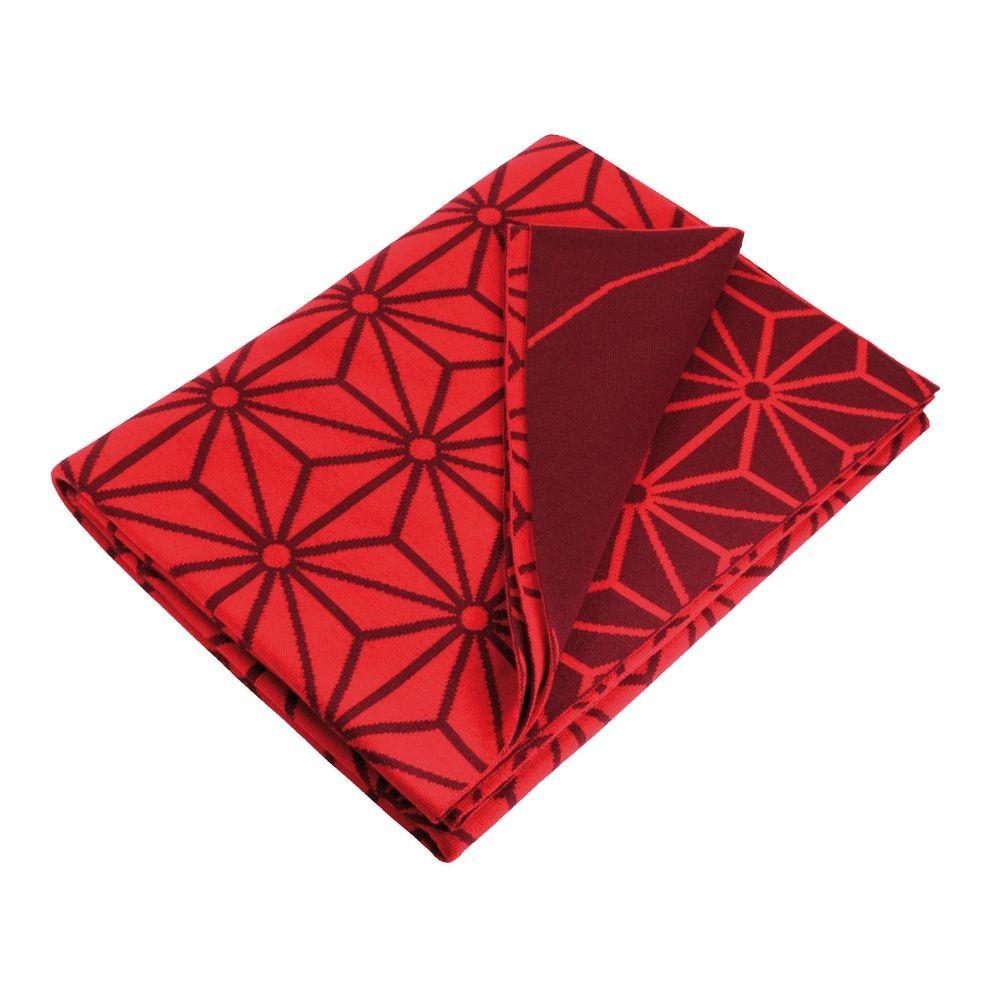 Плед Asanoha, красный