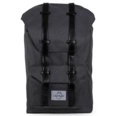 Большой серый городской рюкзак Сердце