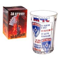 Граненый подарочный стакан МЧС