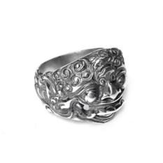 Кольцо Маска Шивы, серебро 925