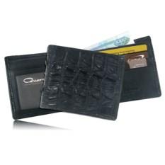 Черный мужской бумажник из кожи крокодила