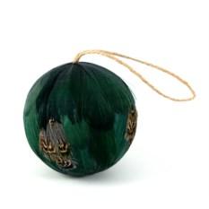 Елочная игрушка Шар зеленого цвета