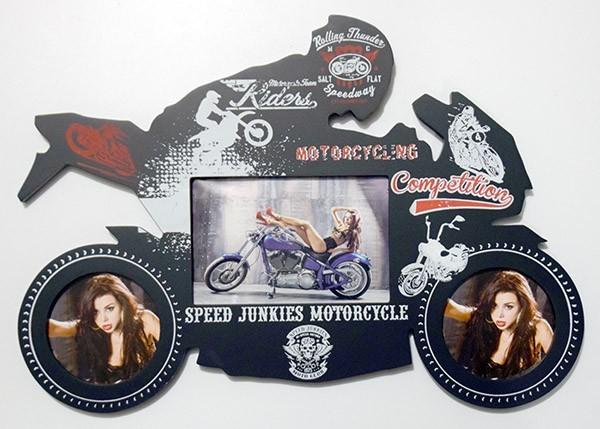 Фоторамка-коллаж на 3 фото Мотоциклист