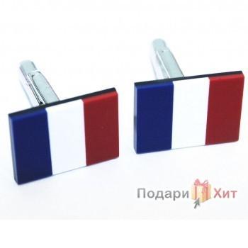Запонки-флаги Франция
