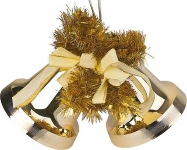 Новогодний комплект колоколов с мишурой
