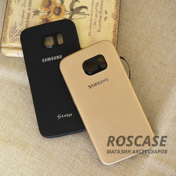 Кожаная накладка для Samsung G925F Galaxy S6 Edge