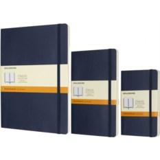 Синяя записная книжка в линейку Moleskine Classic Soft