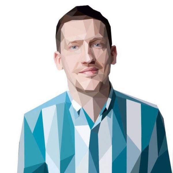 Мужской полигональный портрет