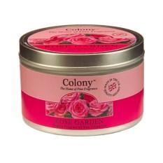 Ароматическая свеча Розовый сад в металле
