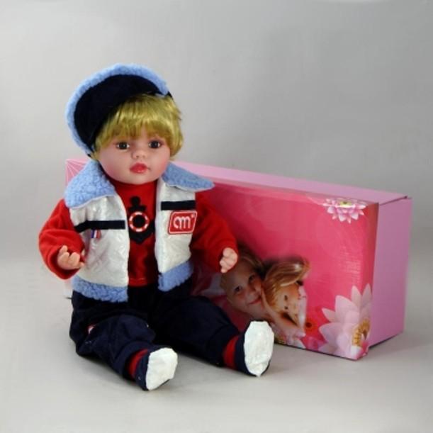 Декоративная виниловая кукла Мальчик в морском костюме