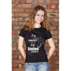 Черная женская именная футболка Limited