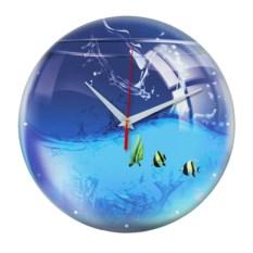 Стеклянные настенные часы Аквариум