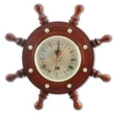 Настенные часы в виде штурвала