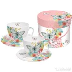 Подарочный набор чашек для капучино Louise butterfly