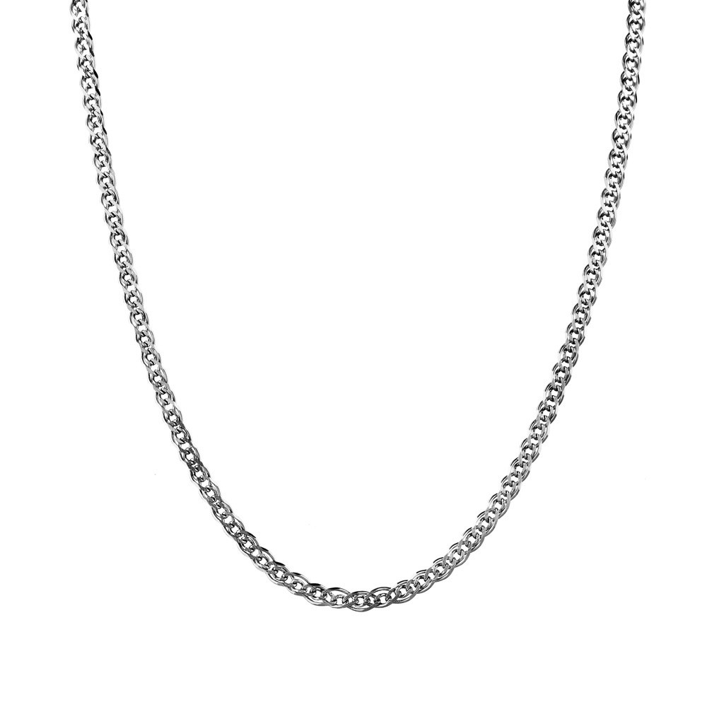 Серебряная цепочка Нонна, с алмазными гранями