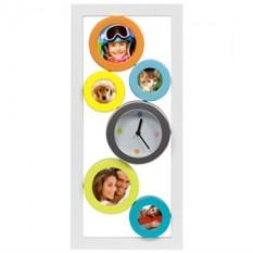 Настенные часы с фоторамкой Colors